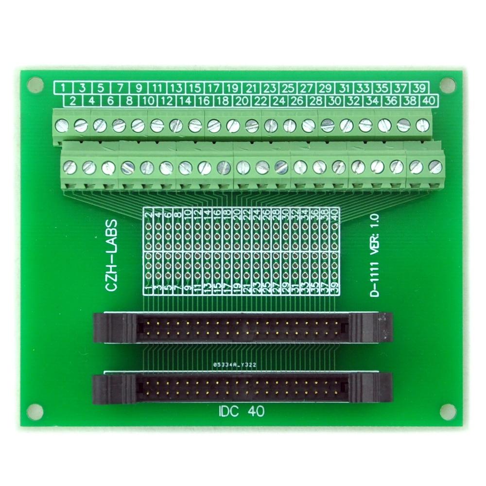 IDC-40 2x20pins 2.0mm Dual Male Header Breakout Board, Screw Terminal Connector.
