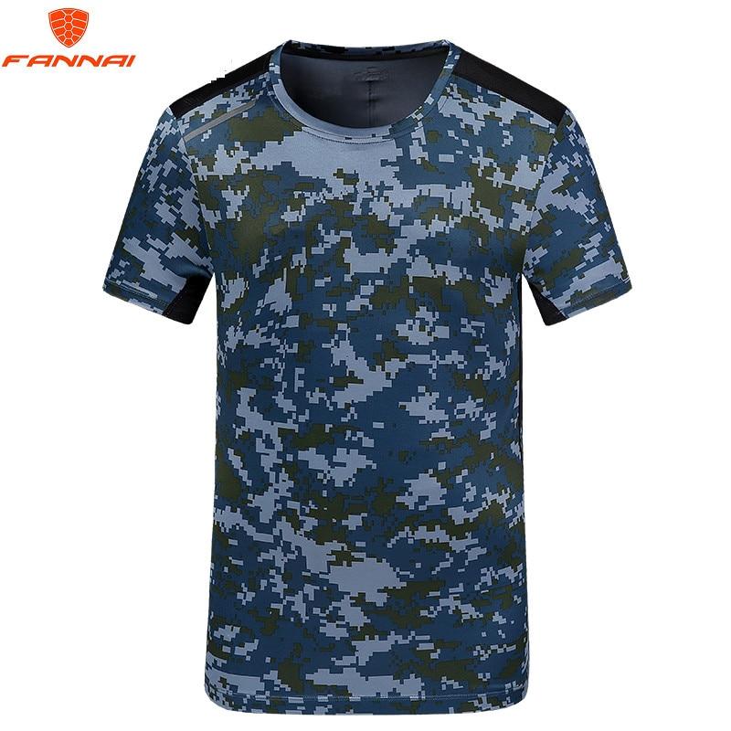 2018 camouflage shirt korte mouwen T-shirt workout kleding camouflage - Herenkleding