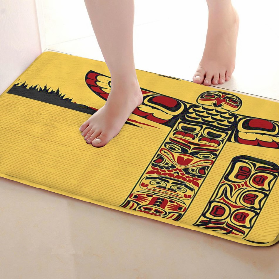 Kite Style Bathroom Mat,Funny Anti skid Bath Mat,Shower Curtains Accessories,Matching Your Shower Curtain