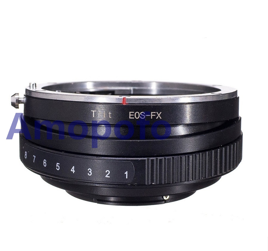 Amopofo For EOS FX Tilt Lens Adapter for Canon EF Mount Lens to Fujifilm Fuji X