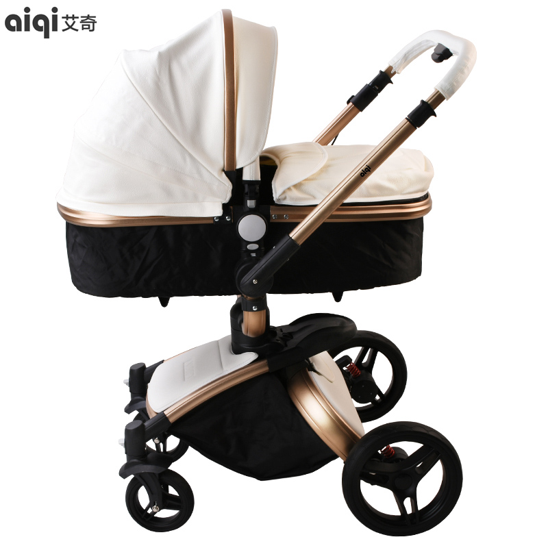 High Landscape Shock Absorber Can Sit, Lie, Light, Children's Trolley, Two-way Folding Baby Umbrella, Four Wheeled Stroller