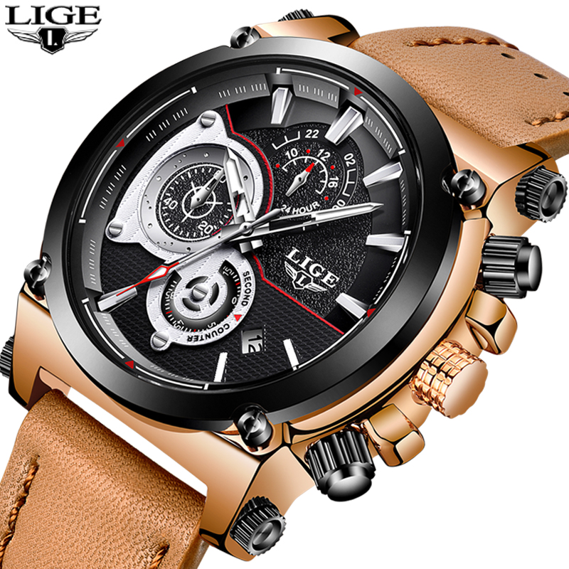 LIGE Mens Watches Men's Military Sports Watch Top Brand Luxury Men's - Men's Watches