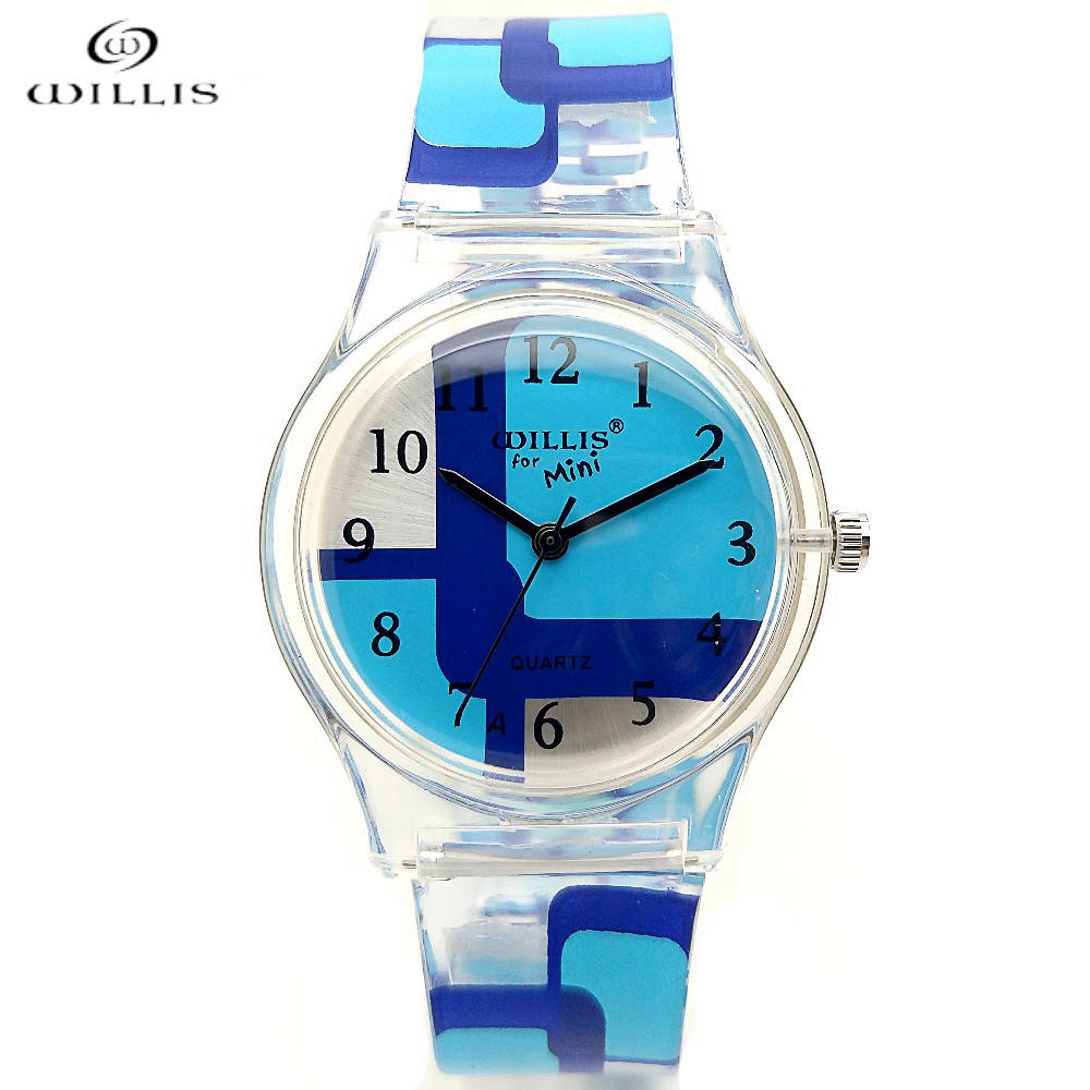 WILLIS Brand New Fashion Sport Casual Watch Women Pure Color Jelly Silicone Watches Students Elegant Clock Quartz Wristwatches