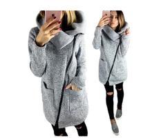 Женская флисовая толстовка на весну и зиму, повседневные длинные толстовки на молнии, куртка с карманами, пальто, верхняя одежда, большие размеры 4XL, красный/черный/серый/синий