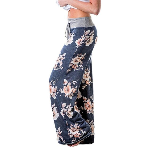 24b3d132163bf Floral Printed Loose Pants 2018 Women Ladies Wide Leg Pants Stylish Print  Loose Casual Pants Trousers Plus Size New Femme GV758