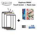 Elephone P8000 Touch Screen 5.5Inch Original Touch Panel Repair Part for Elephone P8000 Mobile Accessory+Colorful Painted Case