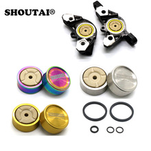 Bike Titanium alloy Piston Hydraulic Brake Caliper Parts For Shimano XT/M785 / M8000 / SLX675 Bicycle Brake  Parts