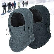 Thermal Fleece Balaclava Hat Hooded Neck Warmer Winter Sports Face Mask for Men Bike Helmet Beanies