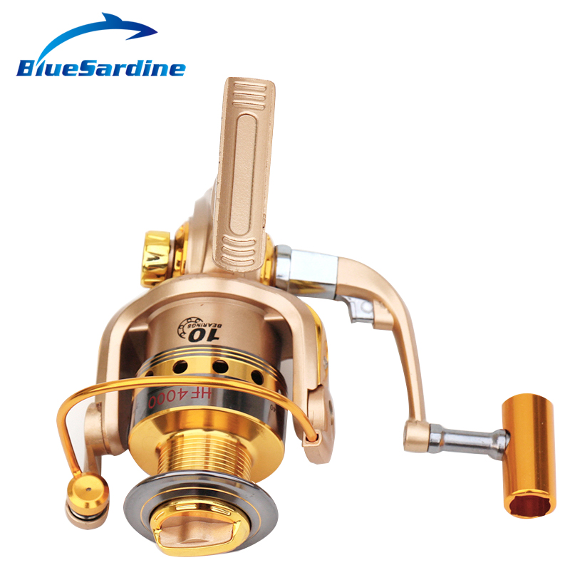 New Spinning Reel Fishing pesca coil Fishing Reel Golden Metal Spool - Fishing - Photo 4
