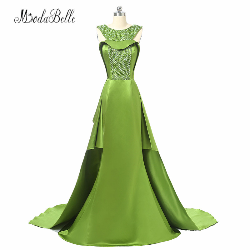 modabelle Long Mermaid Dubai Formal Evening Dresses Pearls Vintage Vestido Noche Green Evening Party Gowns Turkish