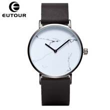 Eutour ультра тонкий классический Мрамор Часы кварцевые женские часы кожа Повседневная мода наручные часы Montre Femme relogios feminino