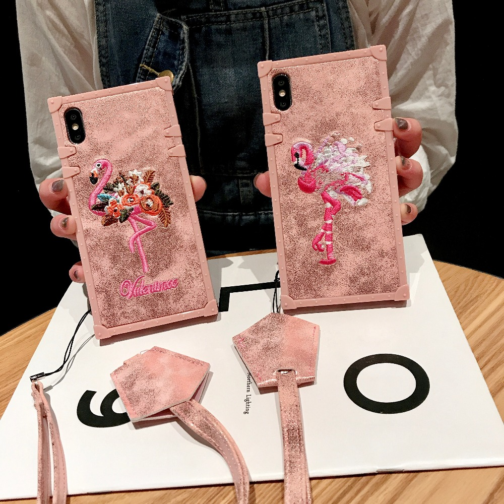 Cases For Huawei P20 Pro P20 Cover 3D Pink Embroidery  (1)