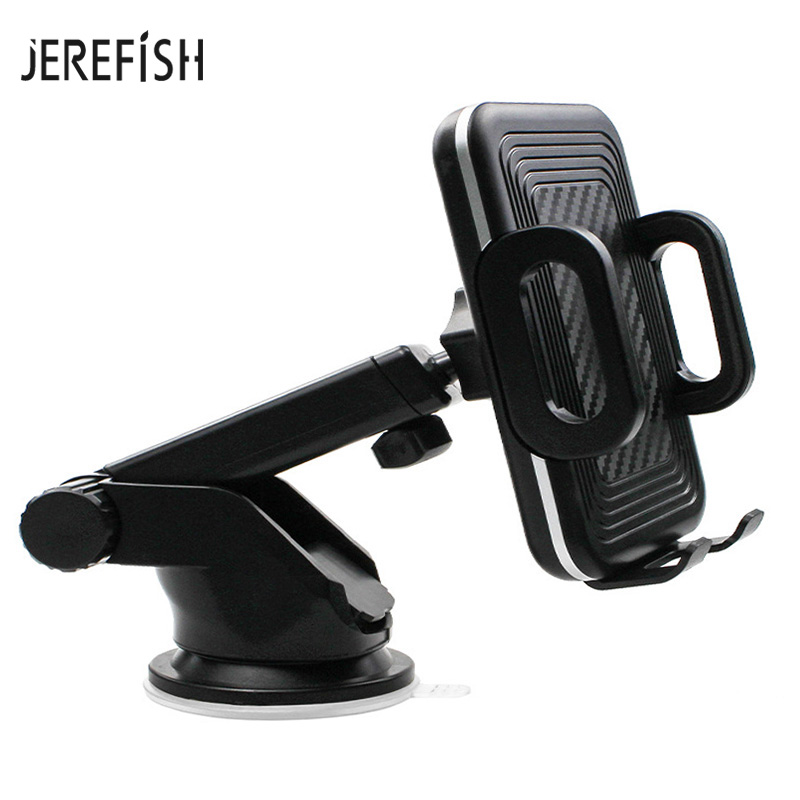 Jerefish Cell Phone Holder For Car Cradle Car Dashboard Windshield Phone Mount Holder For IPhone X Max 8 7 6 Samsung HUAWEI