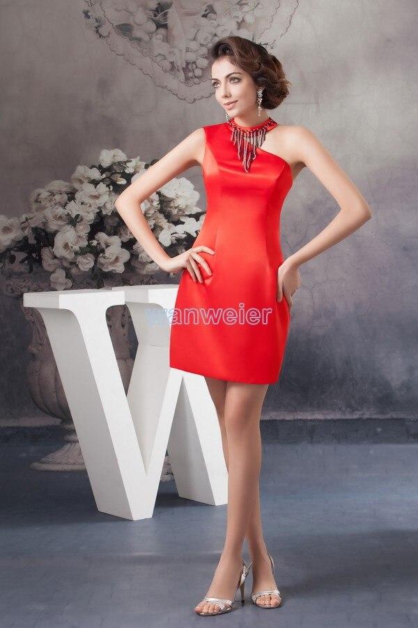 b4e883528 Vestido libre de la criada de las novias 2016 nueva llegada un hombro más  tamaño vestido formal de las mujeres menta rojo rebordear damas vestidos
