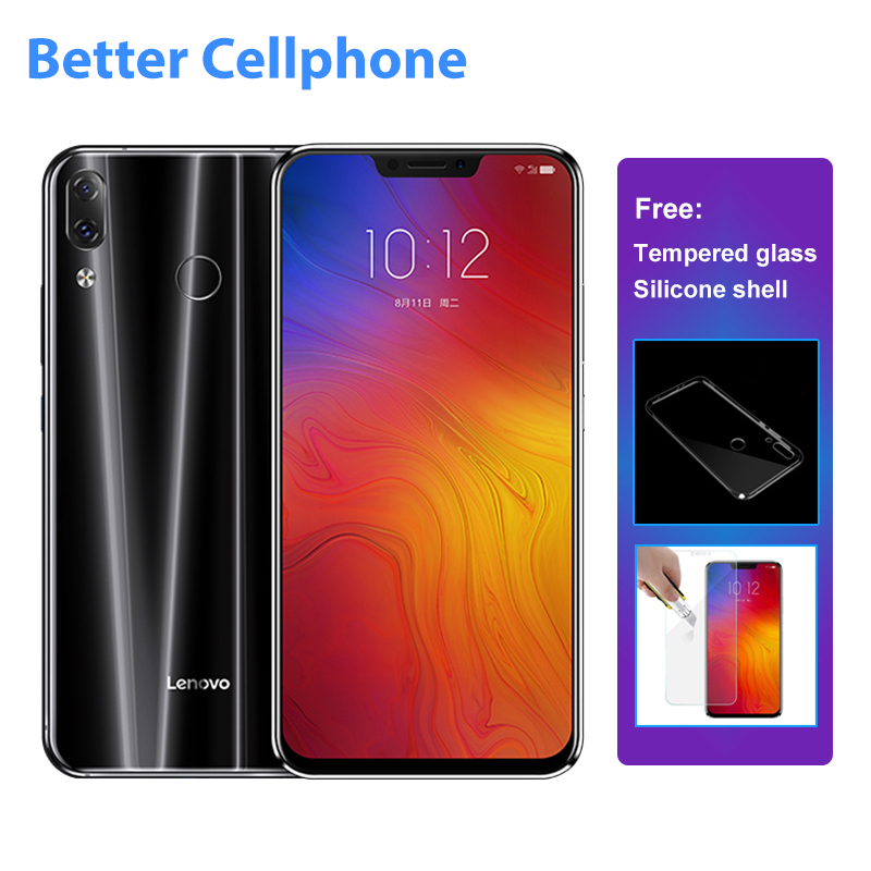 Lenovo Z5 L78011 Face d'empreintes digitales-ID SmartPhone Snapdragon 636 Octa-core 1.8 ghz Double Arrière 16MP + 8MP 6 gb RAM + 64 gb ROM OTG 3300 mah