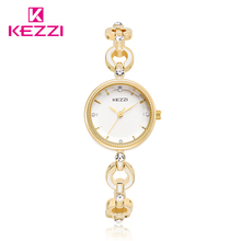 Nueva KEZZI Señoras Reloj de Acero Inoxidable Completa Rhinestone de Lujo Reloj Pulsera de Cuarzo Resistente Al Agua Relojes de Las Mujeres Reloj Pulsera Mujer