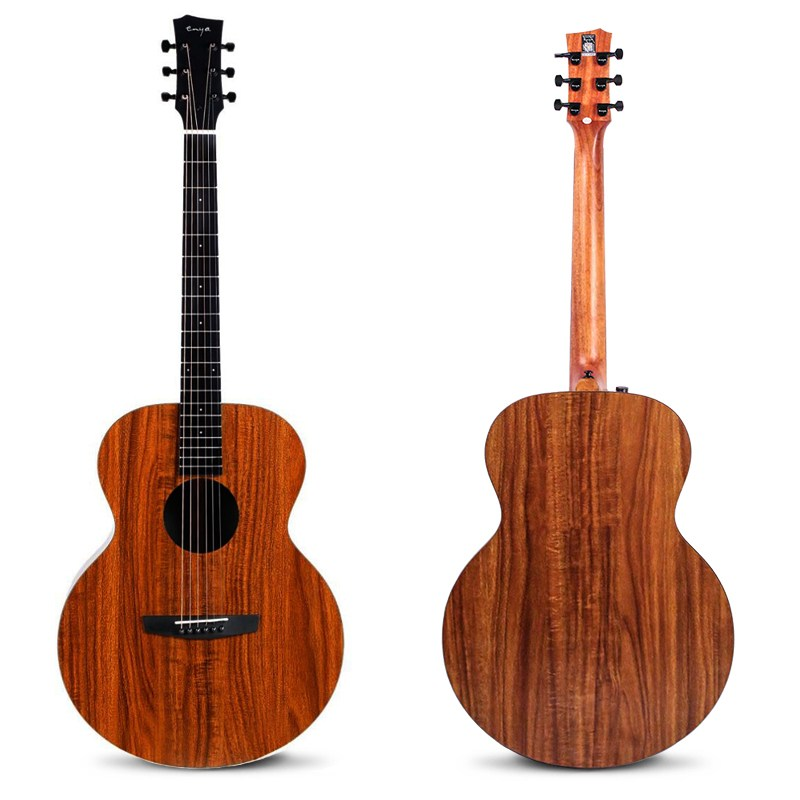 Enya EA-X1/EQ 41 Inch KOA-Patterned HPL Wood Full Board Guitarra Acoustic Guitar For Musical Instruments Lover Gift
