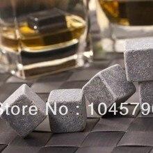 100 наборов камни для виски с бархатной сумкой и подарочной коробкой виски со льдом Рок Камень 9 шт./компл. через DHL/SPSR