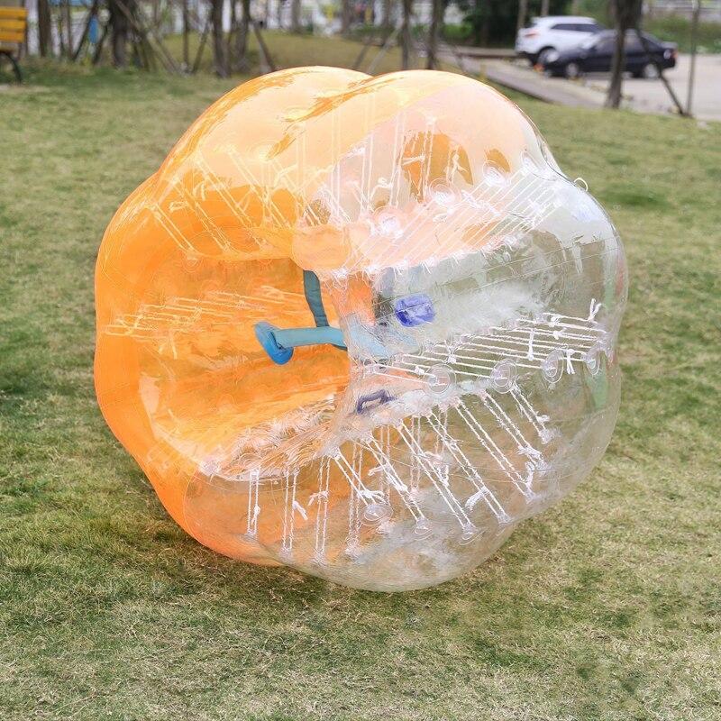 Boules en plastique d'amusement et de sports en plein air boule de butoir gonflable 170 cm ballon de football de bulle exploser jouet boules de bulle adultes enfant