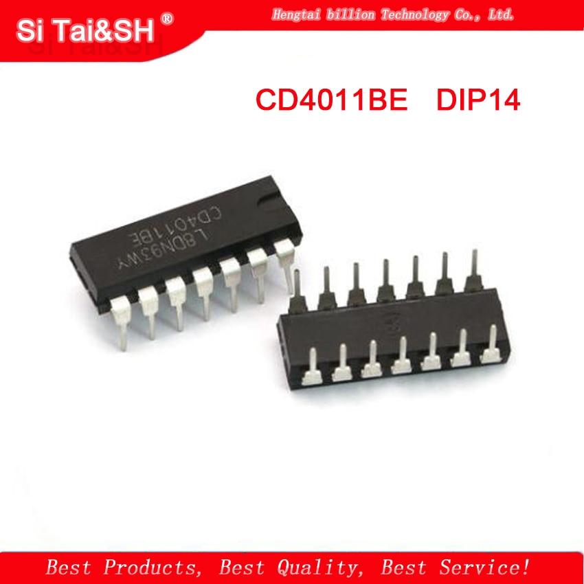 10PCS CD4011 4011 QUAD 2-INPUT NAND GATE IC CD4011BE  DIP14