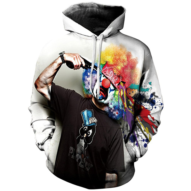 LASPERAL 3d Sudaderas Con Capucha de Los Hombres de Primavera Otoño 3D Impreso Harajuku Pullover Poliéster sudadera Con Capucha Suelta Tigre USFlag Camiseta de Los Hombres S/M/L 1 UNID