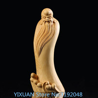 TNUKK Boxwood carving crafts home decoration new old longevity longevity.