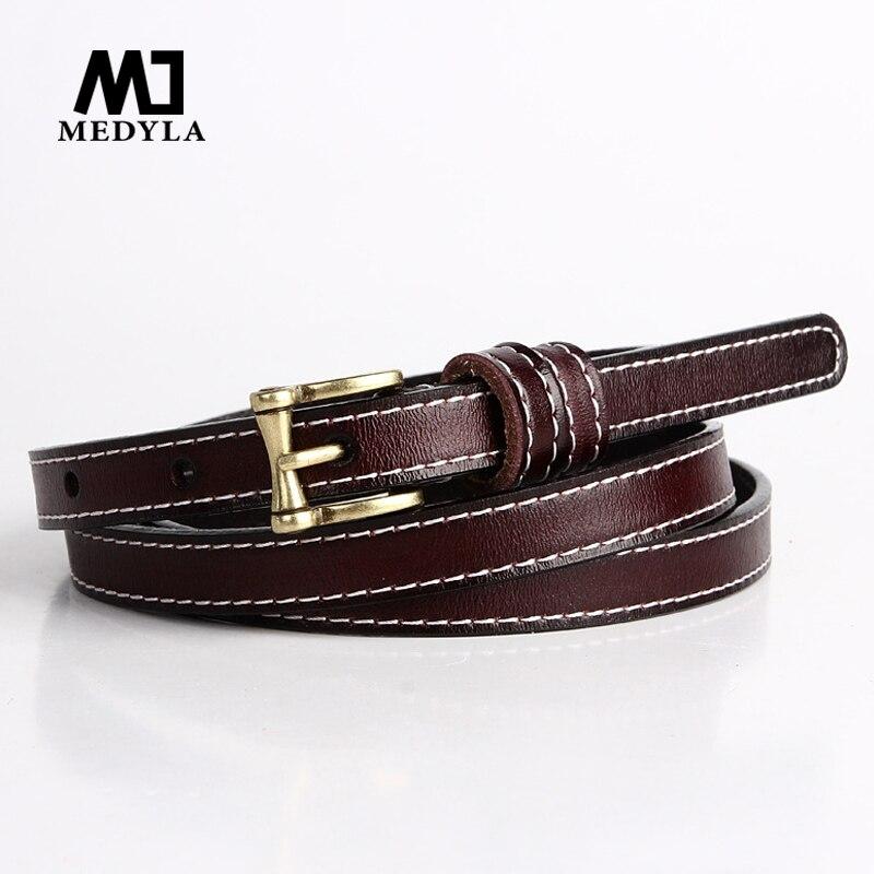 Medyla Fashion Buckle Design Belt For Woman Vintage Cow Genuine Leather Belts Brand Women Casual Luxury Female Belts Alloy