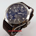 47mm parnis gray dial power reserve ST automatic movement mens watch P273B