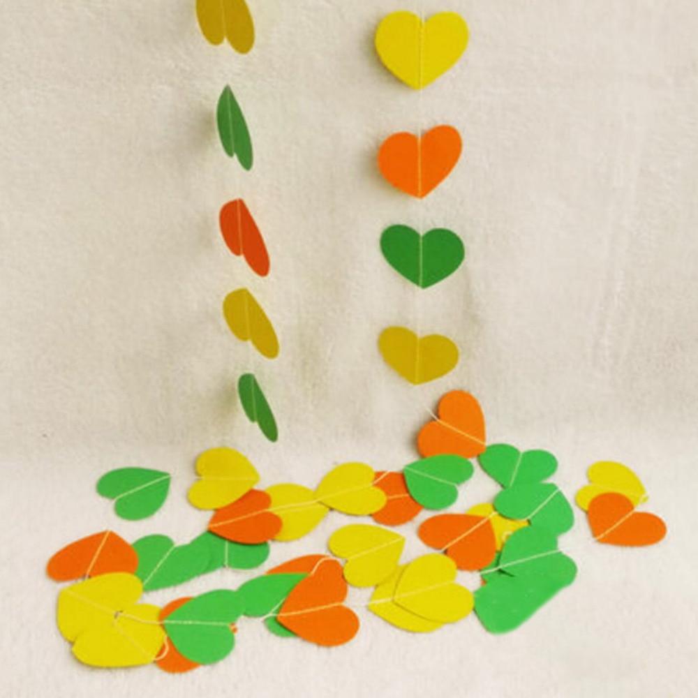4 m Kleurrijke Hart Papier Bruiloft Decoratie Guirlande Handgemaakte - Feestversiering en feestartikelen - Foto 4