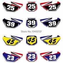 H2CNC изготовленный на заказ номерной знак фон Графика Стикеры& Наклейка для Yamaha YZ85 2002- 2004 2006 2008 2010 2012 YZ 85