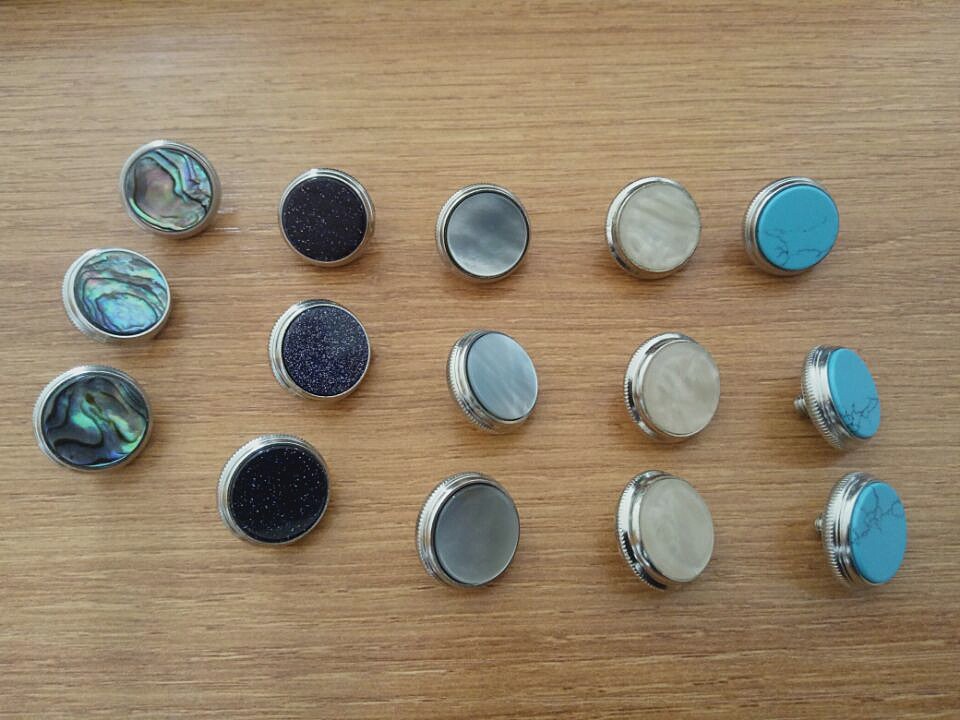 5set 15 pcs trumpet finger button pearl set real abalone shell flashing pearl