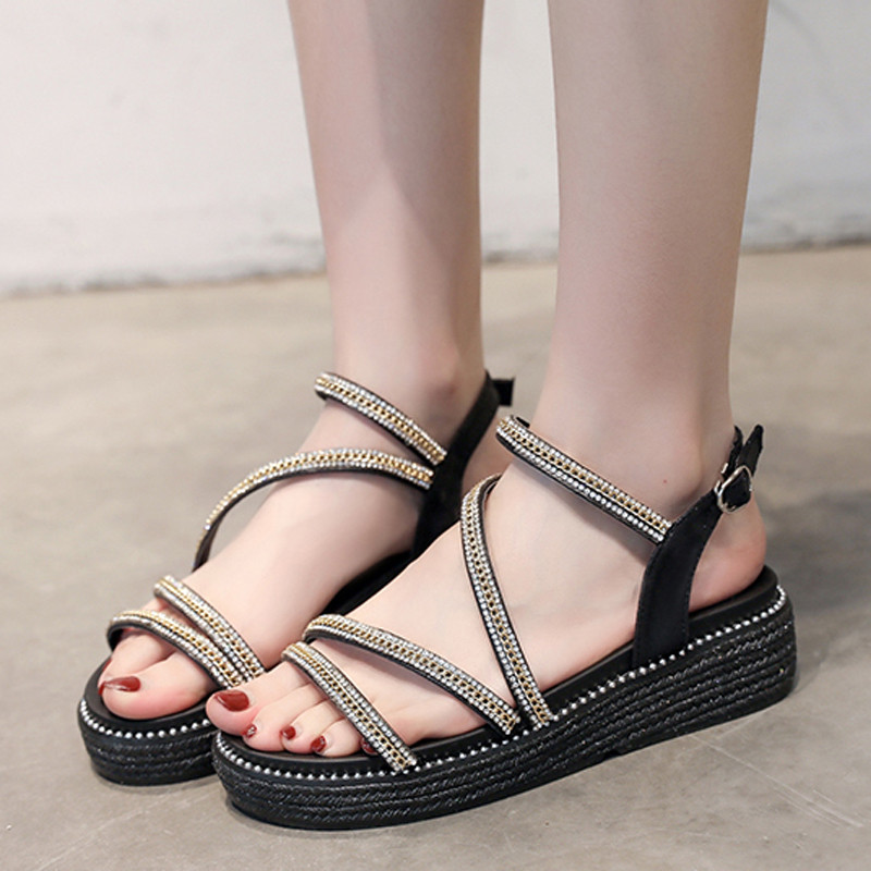 Tangnest Summer Shoes Women Sandals Fashion Woman Ladies New Casual XWZ5861 Creepers