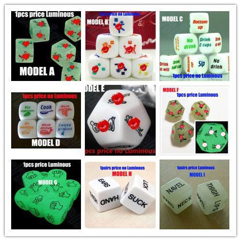 1pcs English Drinking Wine Mora Dice Adult Sex Game Dice Toy Fun Board Game Night Bar KTV Entertainment Party Dice