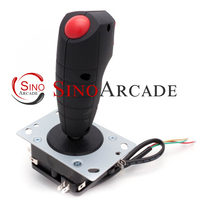 Arcade mini grap flight Joystick with two trigger and top fire buttons vibration function