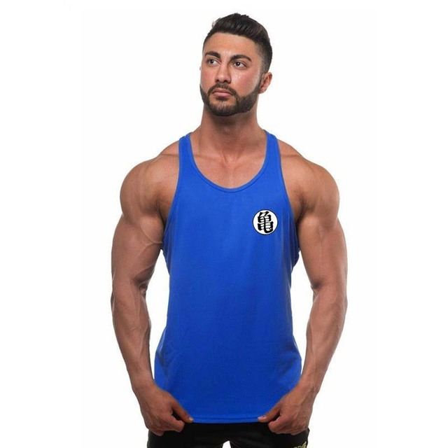 2018 fashion New Bodybuilding Dragon Ball Tank Tops Men Anime Tops Naruto vest Fitness Tops Tees saiyan singlets free delivery 2