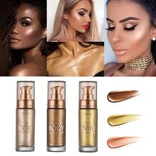 PHOERA Lluminator макияж хайлайтер крем для лица и тела Shimmer Make Up Liquid Brighten Профессиональный светящийся косметический TSLM2