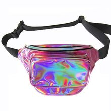 Women Fanny Pack Belt Bags Shiny Neon Laser Hologram Waist Packs Party Rave Hip Bum Bag(China)