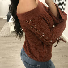 MUXU red bandage Sweater Woman Knitting harajuku women sweaters and pullovers womens clothing long sleeve high quality