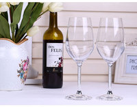 LS 2X Crystal Red Wine Glasses Wedding Toasting Flutes Personalized Glassware