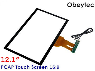 Obeytec 12.1 10 Touch Points Capacitive Touch Screen Panel, 16:9, PCAP USB Touch Glass, USB Controller hot 24 inch 10 points capacitive touch screen with glass usb touch screen overlay panel kit for lcd touch monitor