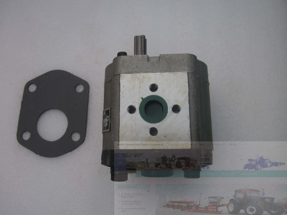 Gear pump CBN-E314, the right rotation, No flange, WITH end oil outlet, splined shaft (longer shaft) for Chinese brand tractor gear pump cbn e316l left rotation with flange no end oil outlet splined long shaft of dongfeng tractor
