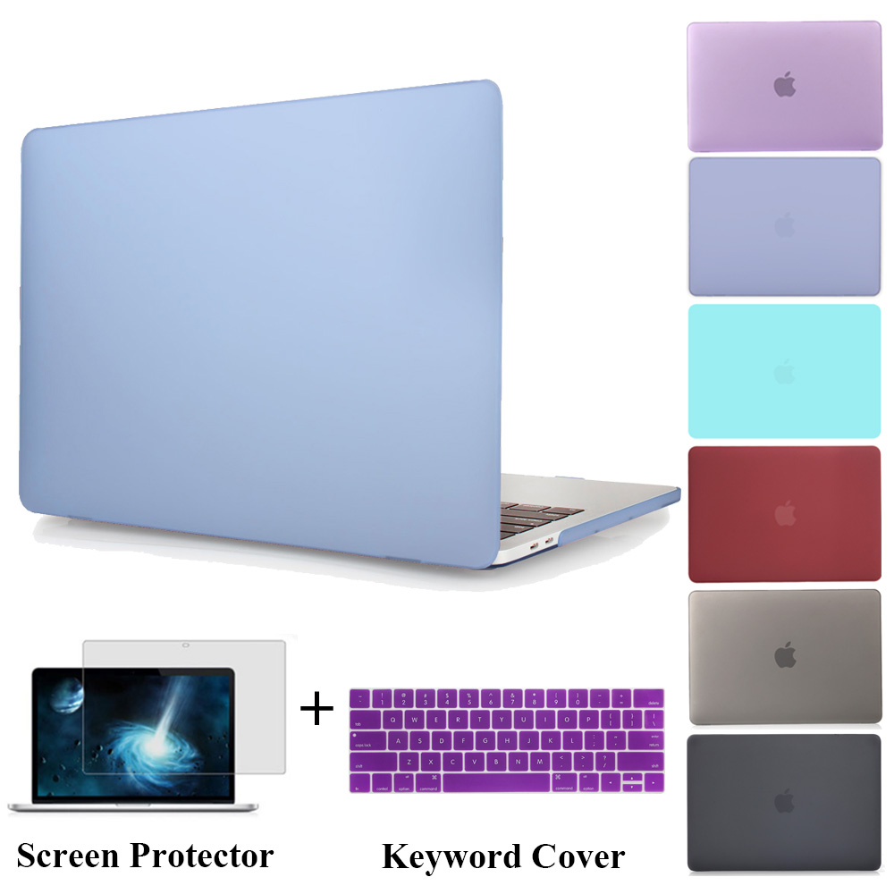 NEW Matte Case Hard Cover For Macbook Pro 13 A1706 Pro 15 A1707 with TouchBar Laptop Bag For Mac Book Pro 13 A1708 Protect Shell