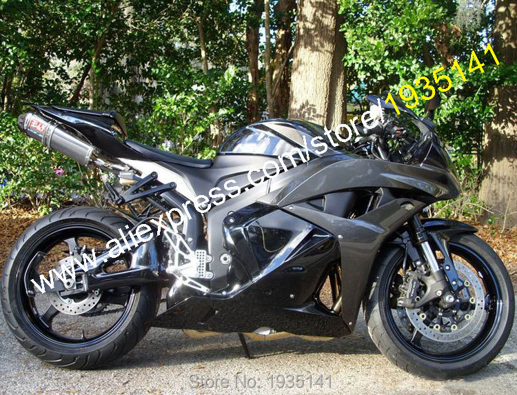 Hot Sales,Aftermarket For Honda CBR600RR F5 2009 2010 2011 2012 CBR 600 RR 09-12 Black Motorcycle Fairing (Injection molding) arashi motorcycle radiator grille protective cover grill guard protector for 2008 2009 2010 2011 honda cbr1000rr cbr 1000 rr