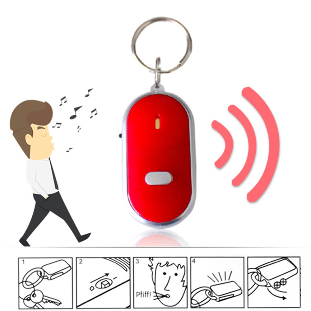 1 Pcs Led Anti-verloren Key Finder Finden Locator Keychain Pfeife Beep Sound Auto Schlüsselanhänger Unterstützung Dropshipping Senility VerzöGern