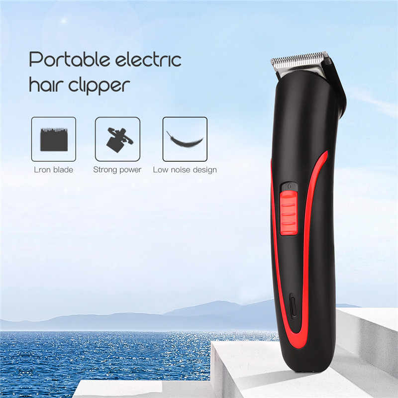 Portable Rechargeable Hair Clipper Electric Cordless Mini Hair Trimmer Pro Hair Cutting Machine Beard Trimer For Men Barber 4041