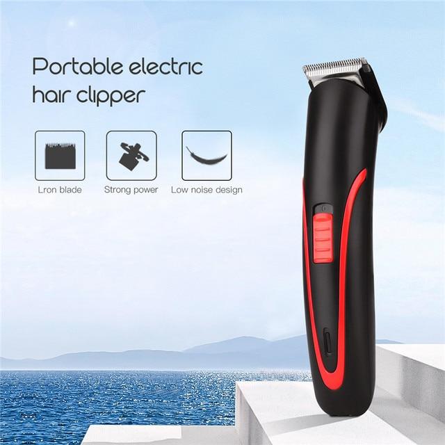 ポータブル充電式バリカン電動コードレスミニヘアトリマーのためのプロの髪切断機髭トリマー男性理髪 4041