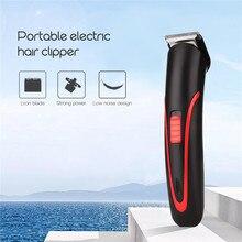 Cortadora de pelo recargable portátil eléctrica sin cable Mini recortadora de pelo profesional cortadora de barba para hombre Barbero 4041