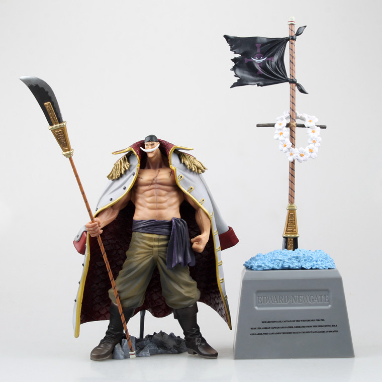 One Piece Action Japanese Anime Edward Newgate Grave White Beard Pirates ACE Figure Toys Juguete Bonecos 30cm PVC Model Kid grave