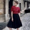 Vintage rockabilly enagua tutú de ballet falda de tul largo vestido de bola elegante de las mujeres faldas para mujer de malla sólida falda skater