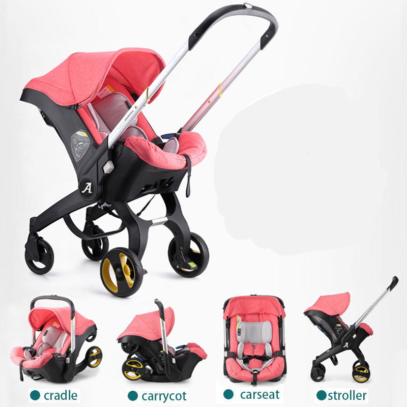 Brand baby strollers 3 in 1 folding lightweight with car seat and baby bassinet Prams ...